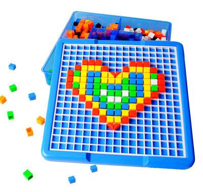 儿童潜力智力美术拼图塑料插板玩具幼儿园益智积木拼盘开学礼物