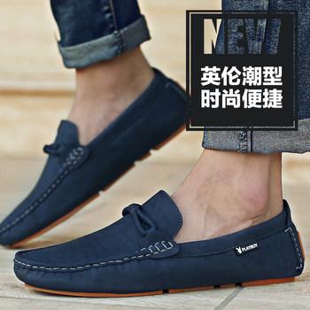 花花公子男鞋秋季休闲鞋男士豆豆