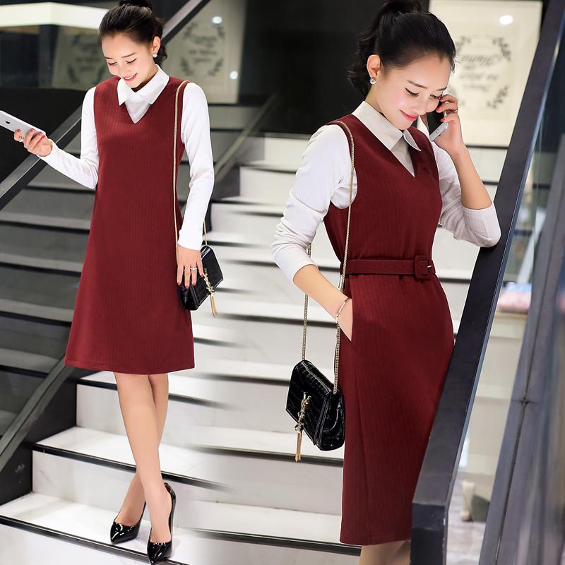 韩版都市白领优雅气质套装女装俩件套时尚修身连衣裙