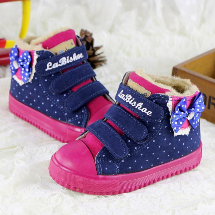 2014冬季新款女童棉鞋加厚加绒韩版公主保暖冬鞋休闲鞋运动板鞋潮