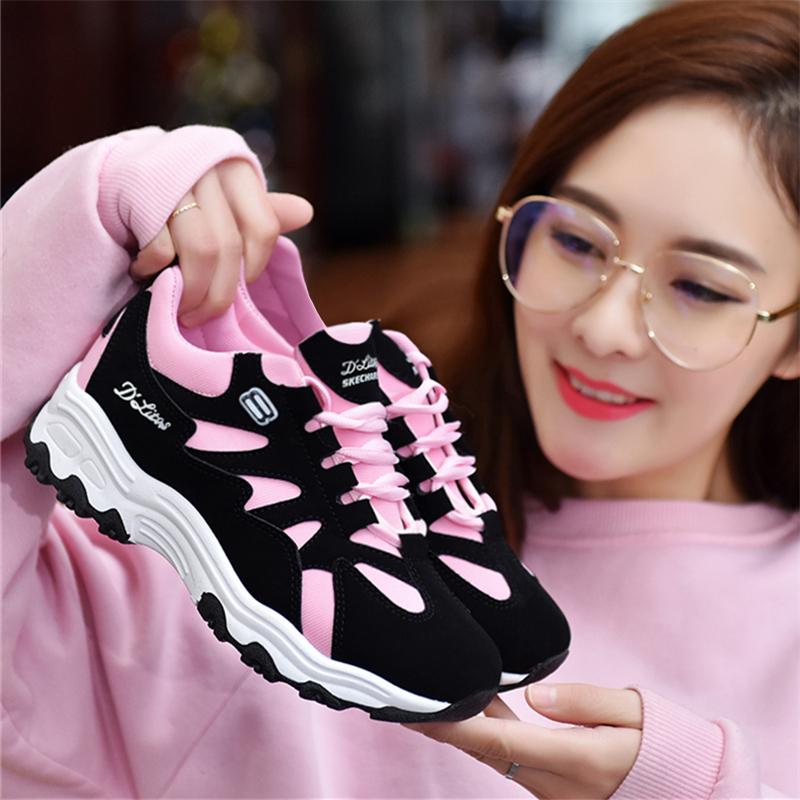 2017秋季新款运动鞋女韩版学生透气单鞋球鞋百搭休闲女鞋跑步鞋冬