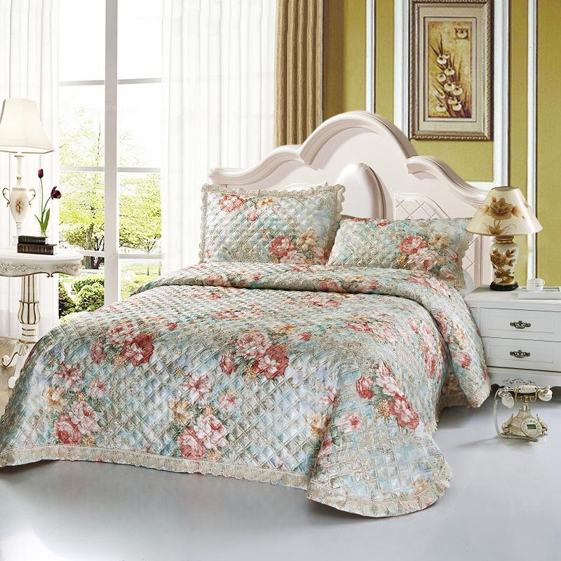 淘宝-欧式纯棉绗缝被夹棉床盖单件全棉加厚床罩1