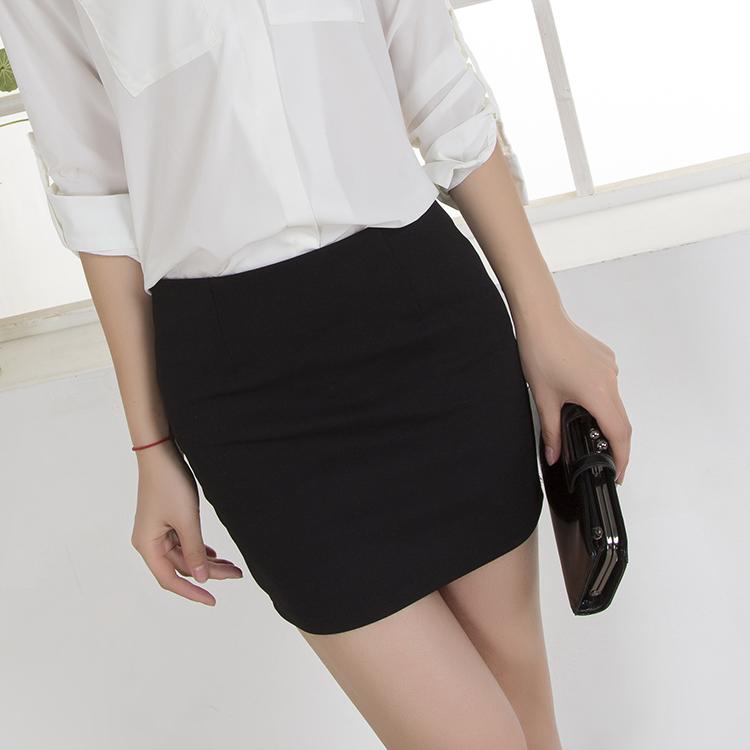 2015春夏新款大码包臀裙a字裙半身裙短裙纯色职业裙OL一步包裙夏