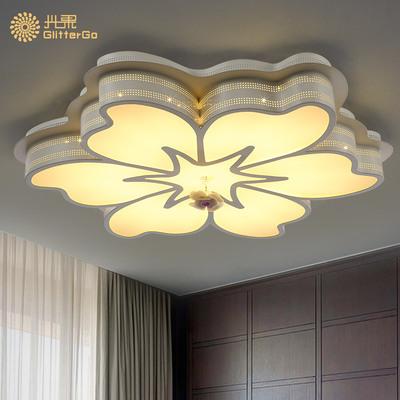 客厅 吉臣-客厅LED花型遥控吸顶灯创意圆形大气卧室灯现代简约调光大厅灯