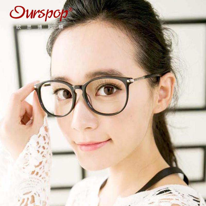 大框近视眼镜架女木质九十眼镜框镜架男大脸复古圆框板材眼镜圆脸