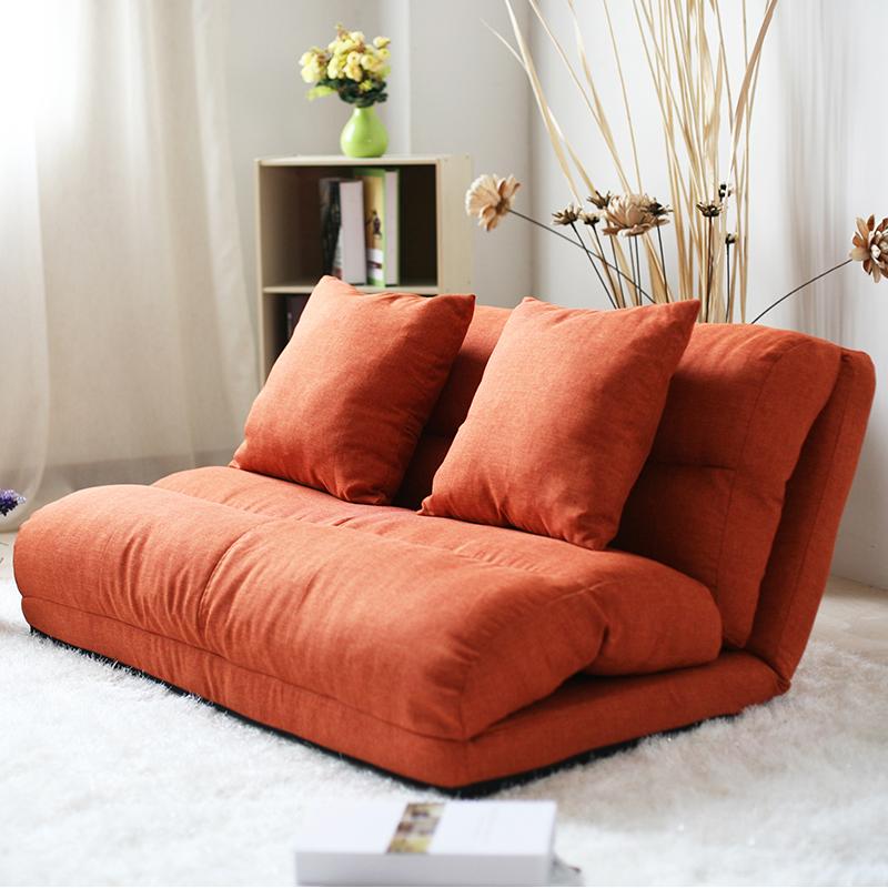 包邮田园 创意懒人沙发双人折叠沙发床榻榻米懒人床布艺卧室沙发