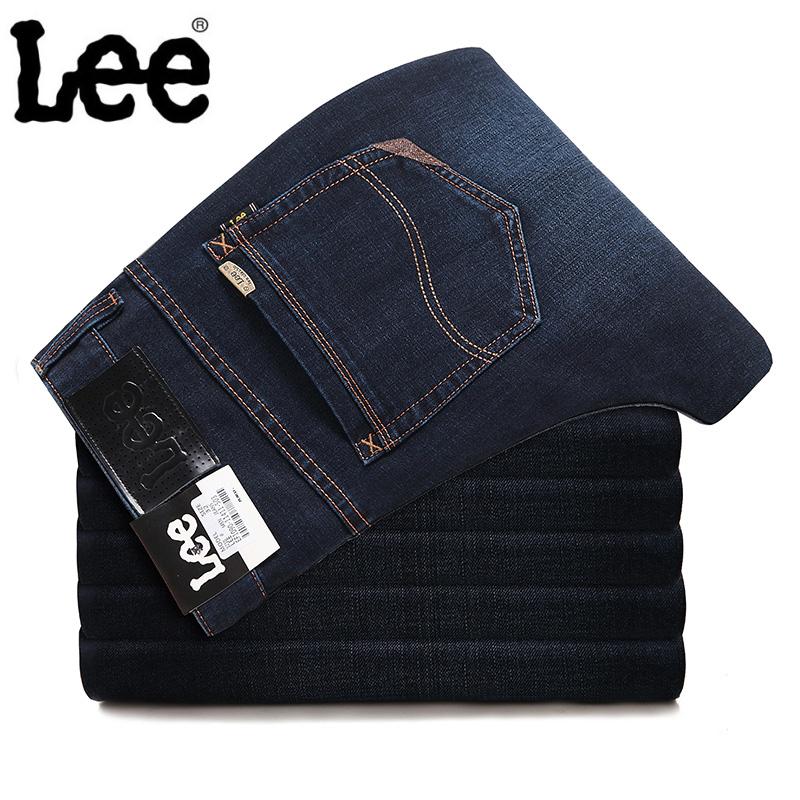 LEE男士牛仔裤 专柜正品商务休闲宽松直筒长裤李牌大码中高腰男裤