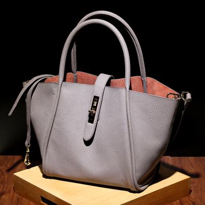 [卖家促销] 欧美时尚新款复古牛皮子母包翅膀包购物袋单肩手提斜挎包真皮女包
