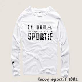 lecoq sportif乐卡克大公鸡纯棉圆领男士长袖T恤超柔打底衫潮包邮