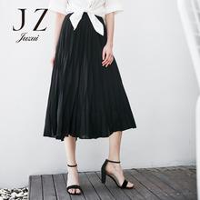 玖姿优雅气质时尚雪纺半身裙正品 2017夏季新款正品专柜女装图片