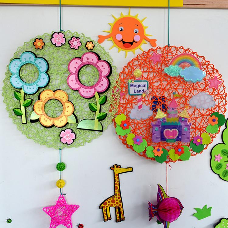 幼儿园吊饰空中装饰教室材料室内外走廊diy手工布