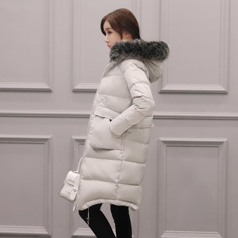 長款外套修身加厚韓國女士過膝羽絨服清倉冬裝