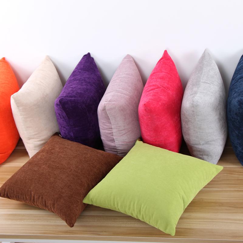 SIXSTAR水洗细纹绒个性沙发靠垫抱枕纯色抱枕日系风9色可选含芯