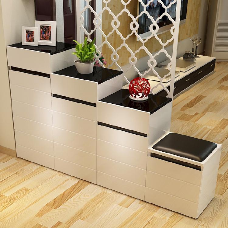 鞋柜烤漆组合柜 宜家高低隔断玄关阶梯双面鞋柜