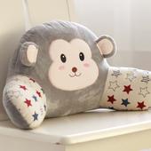 可爱尚美猴子办公室靠垫卡通腰枕大号椅子护腰靠枕靠背垫床头抱枕