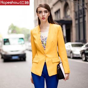 红袖2015夏装新款 韩版修身小西装外套 女 OL女士西服E2010433