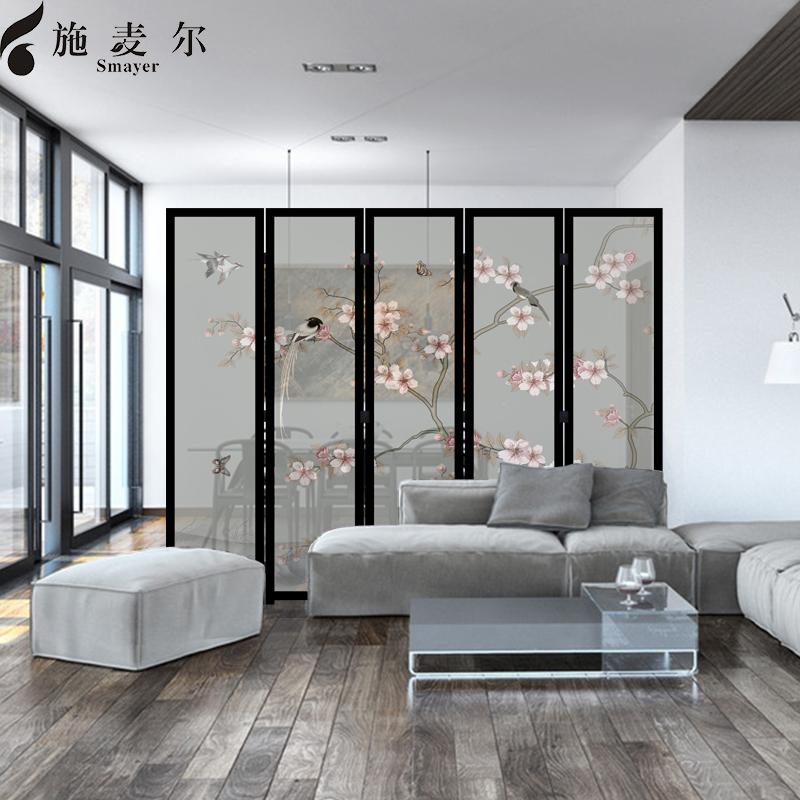 屏风隔断现代简约客厅简约时尚玄关实木折叠欧式折屏