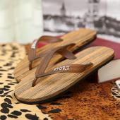 韩版 潮木纹防滑按摩泡沫人字拖沙滩鞋 凉拖鞋 包邮 男士 2016夏季新款
