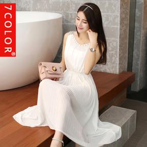 2015夏季新款女装韩版波西米亚长裙沙滩裙女士夏天雪纺连衣裙子女