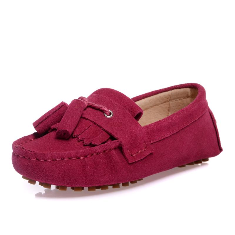 潮款2014韩版童鞋 儿童豆豆鞋流苏 女童 真皮休闲单鞋 亲子鞋