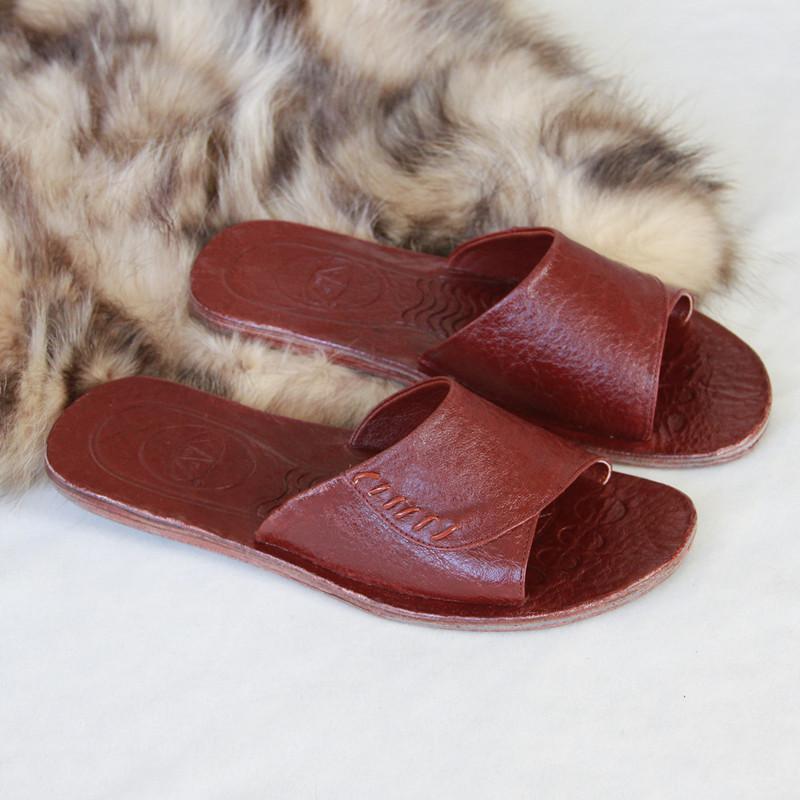 金山峡头层水牛皮拖鞋真皮拖鞋居家拖鞋家居全皮透气地板拖鞋女款