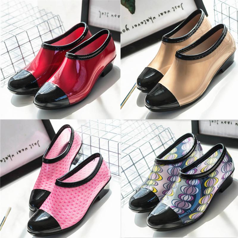 春秋夏季浅口低帮雨鞋女韩国短筒时尚防滑水胶鞋工作雨靴特价单鞋