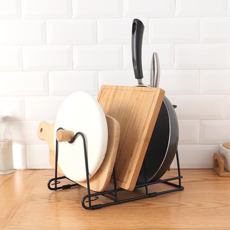 多层厨房用品锅盖收纳架锅具置物架架子多功能 懒角落