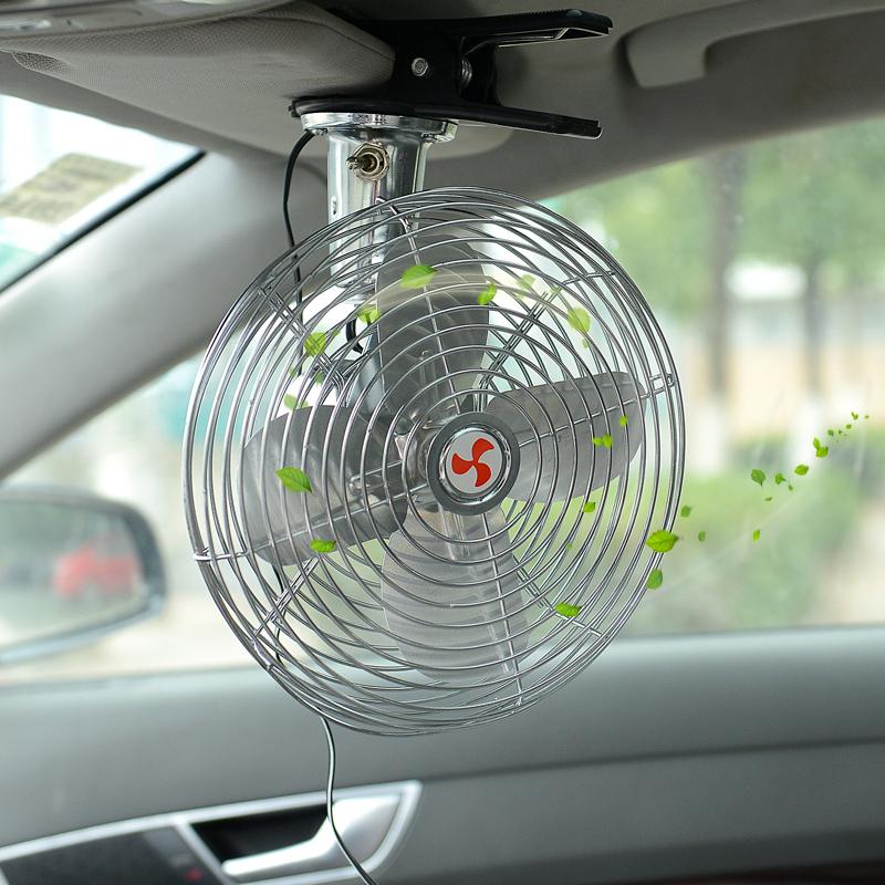 车载小车车上用的电风扇24v大货车12v强力制冷摇头教练车汽车风扇