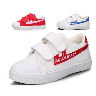 正品回力儿童女板鞋 中性纯色橡胶图腾魔术贴低帮33码单鞋帆布鞋