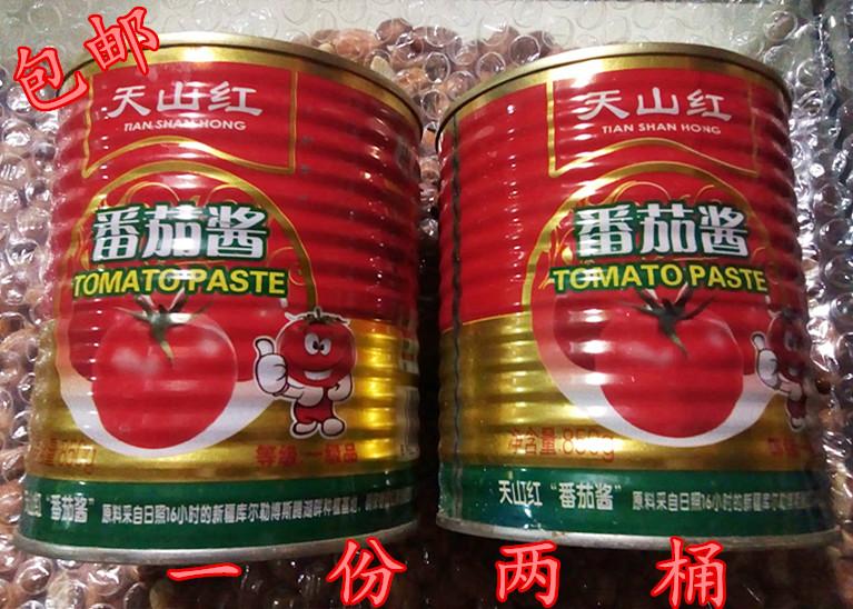 番茄酱天山红番茄 调味酱850*2 包邮 中西餐 清真调料酱包邮