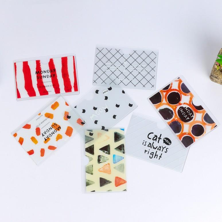 韩国创意塑料半透明卡套 学生校牌公交卡银行卡饭卡保护套证件套