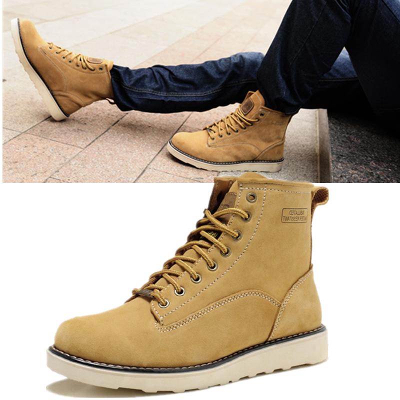 2014新款高帮鞋男靴子马丁靴真皮军靴青春潮流短靴韩版户外正品