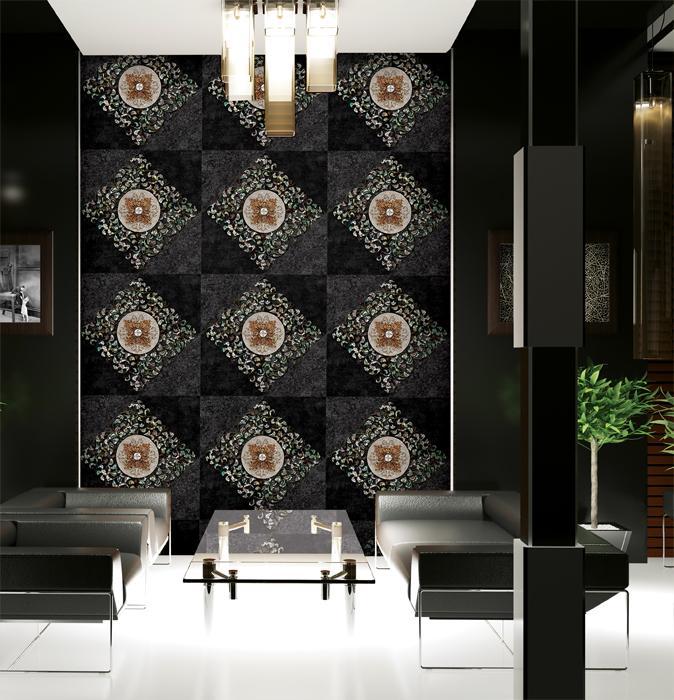 欧式风格大型花盘-韩国高档正品壁纸-客厅沙发电视卧室背景墙纸