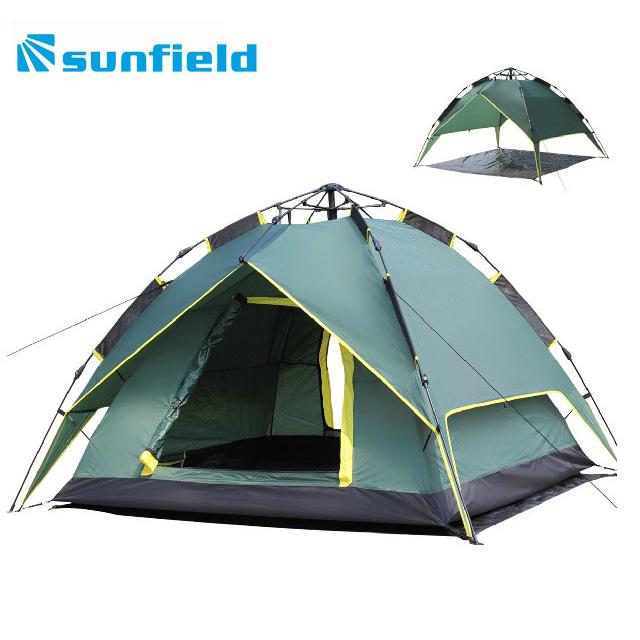户外3-4人自动帐篷 免搭建快速帐篷 天幕两用帐篷 防雨自动帐篷