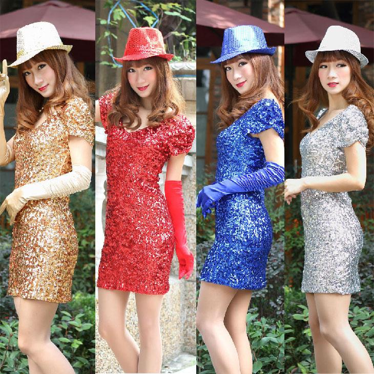 亮片装连衣裙DS演出服装夜场店酒吧舞台装女歌手服现代舞爵士舞服
