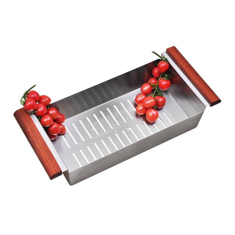 诗琳纳/304不锈钢厨房欧式水槽沥水篮/洗菜盆/手工盆专配/43L