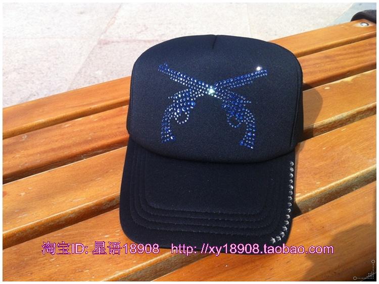 香港IT正品代购 潮牌MMJ 施华洛彩钻 五角星棒球帽 ROAR 双枪帽子