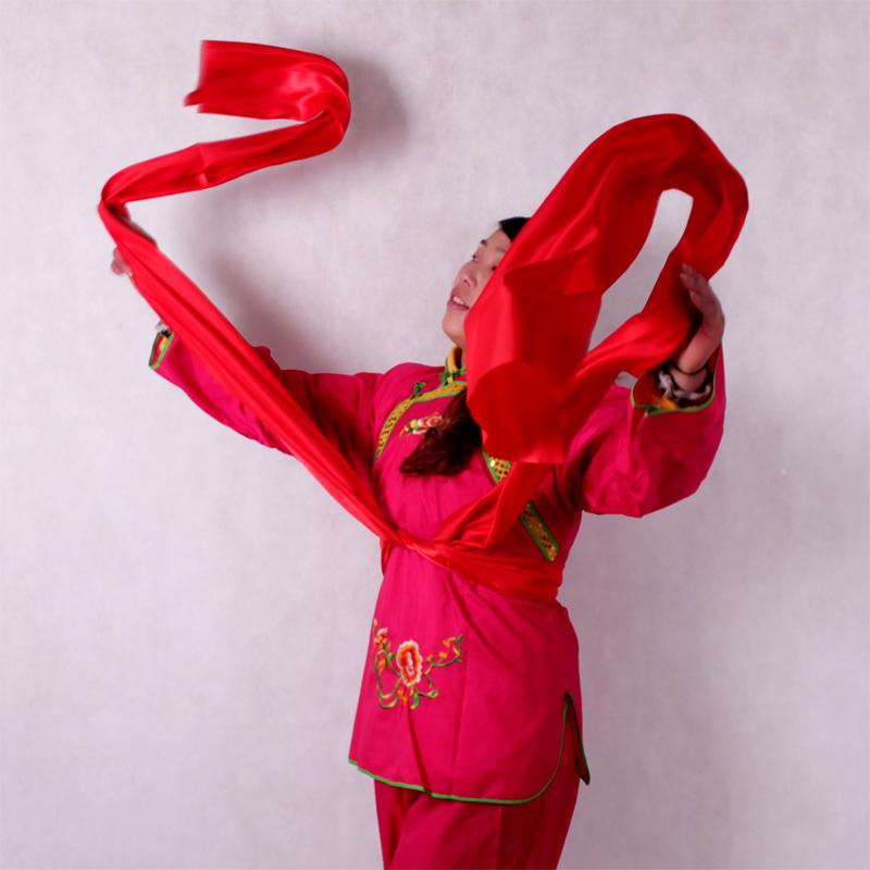 腰鼓绸带秧歌绸带彩带舞蹈红绸布彩子红绸带7个颜色可定做尺寸