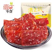 壹号零食【清之坊猪肉脯200g】靖江特产蜜汁猪肉干自然片休闲小吃