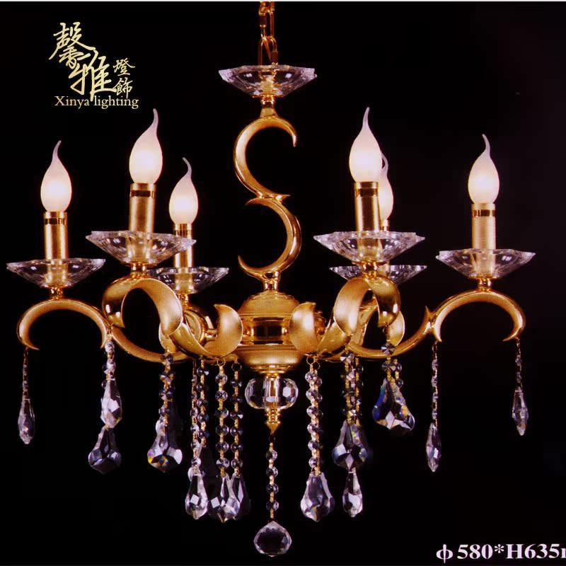 厂价直销欧式全铜吊灯纯铜水晶吊灯客厅灯铜灯复古奢华水晶吊灯