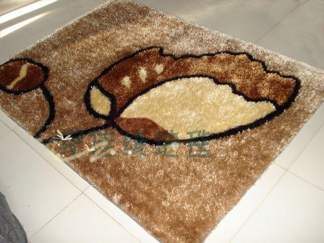 地毯地垫南韩丝地毯真丝图案客厅卧室书房椅下柔顺特价可定做135