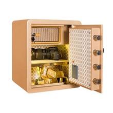 防盗保管箱 全钢保险柜家用45办公保险箱小型床头柜电子密码