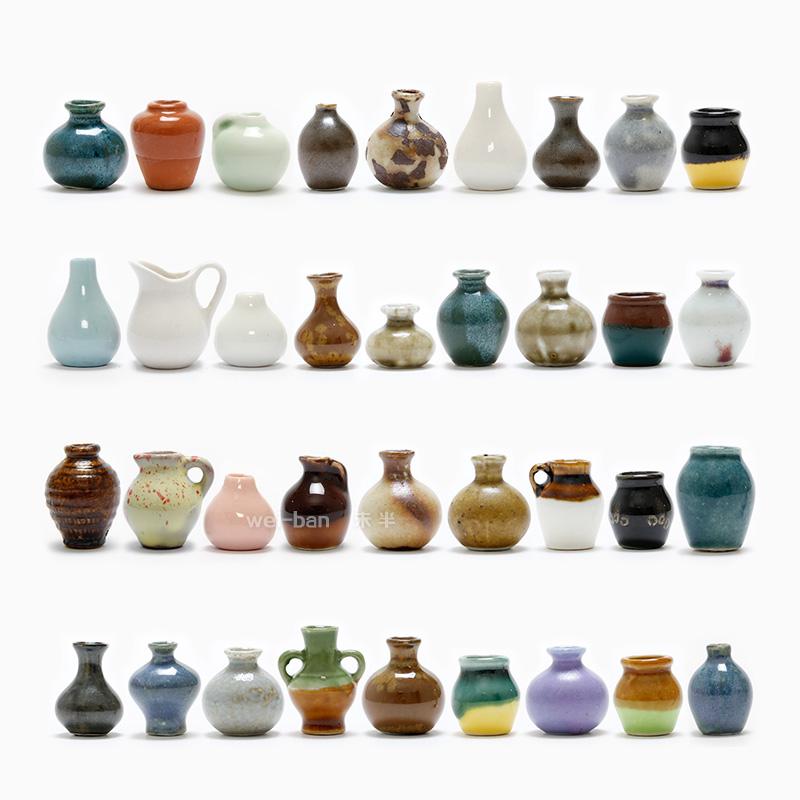 陶瓷插花创意冰箱贴 强力磁铁磁贴 复古怀旧中国风吸铁石家居装饰