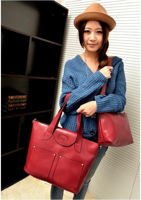 2013秋冬新款女包大包斜跨手提单肩包 子母包包中包 流行韩版时尚