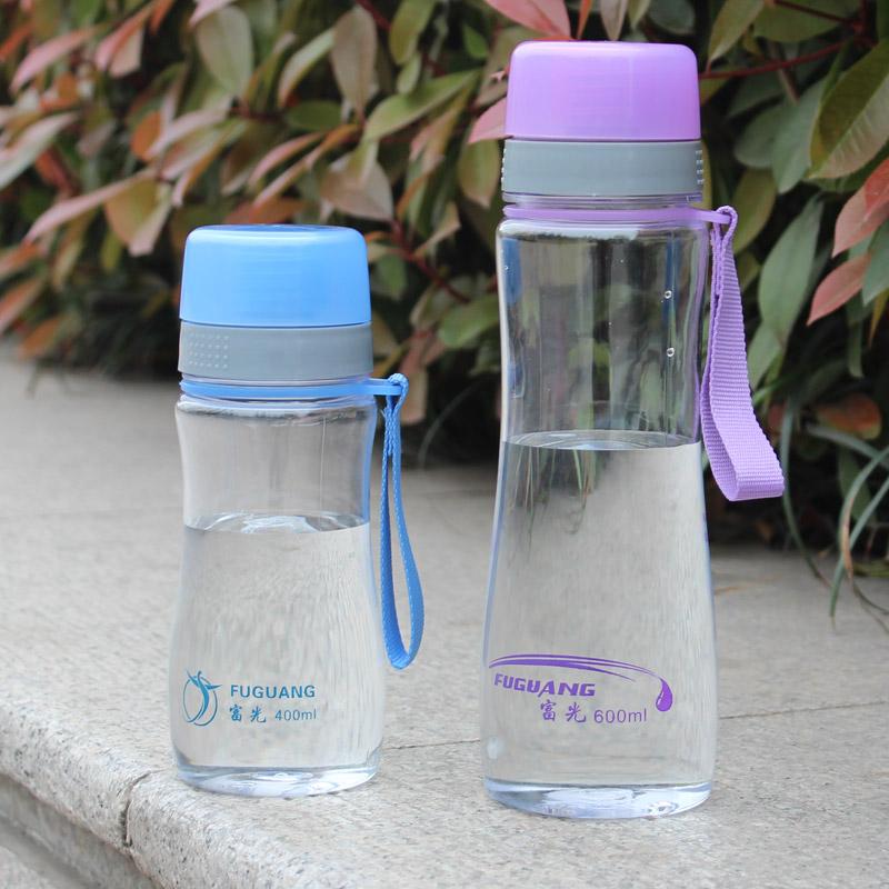 正品富光新动感塑料太空杯防漏大容量提绳式旅行杯户外便携随手杯