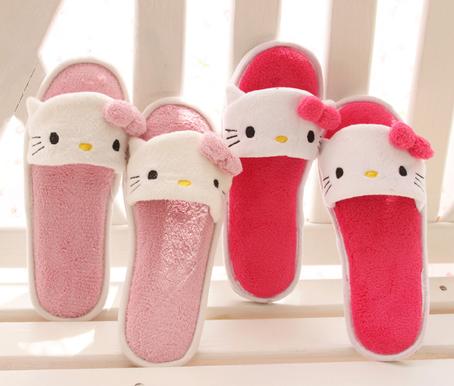 13夏新款包邮出口日本kitty拖鞋 超可爱夏季情侣家居凉拖鞋 女生