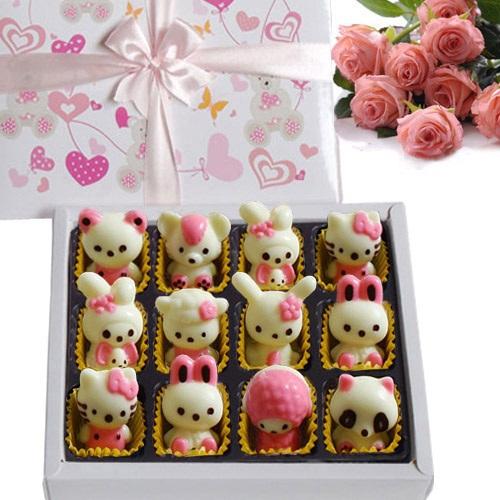 秒杀 卡通手工可写字巧克力/diy礼盒包装生日 七夕情人节礼物礼品