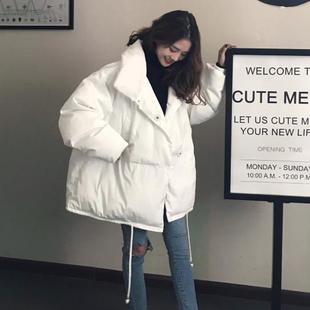 秋冬女装韩版宽松加厚中长款棉衣面包服保暖棉服外套百搭学生棉袄