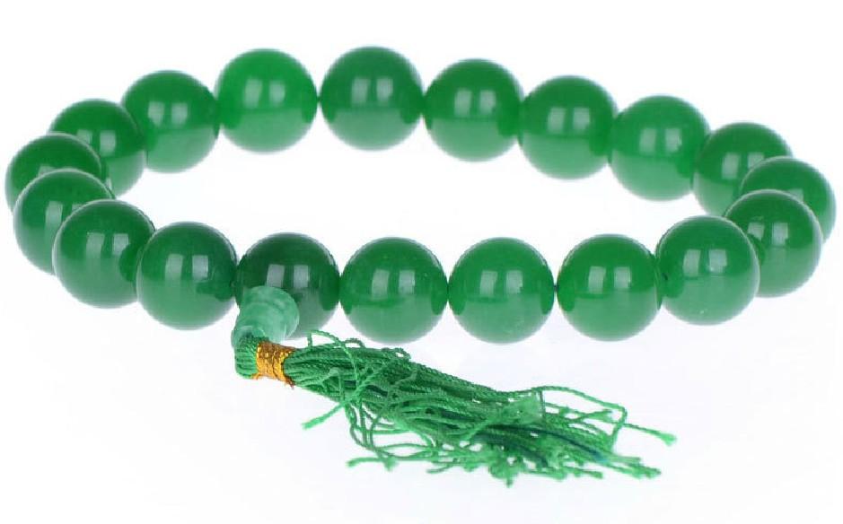 奥芯堂 开光绿玉髓手念珠19颗佛珠 转运手链