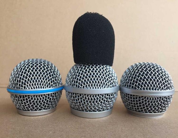 网罩无线话筒原装网头咪头配件 BETA58PG58 SM58SLX24 PGX24 舒尔